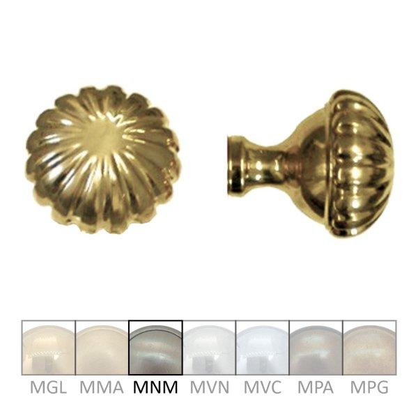 Türknauf TK107 Messing Nickel matt Knopfdurchmesser:60 mm inkl. Zubehör Bild1