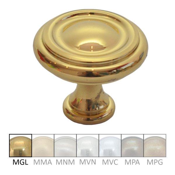 Möbelknopf in Messing glänzend mit Schutzlack. D: 30 mm Bild1