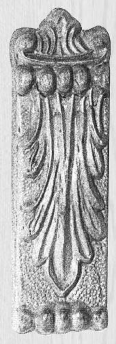 Kapitell AH053 Maße: 33 mm x 110 mm Buche Bild1