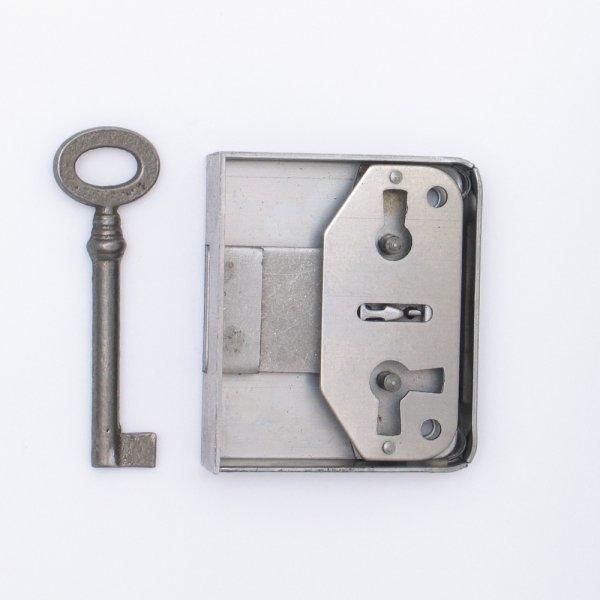 Aufschraubschloss AS001 Eisen roh Dornmaß: D40 mm Bild1