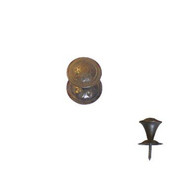 Möbelknopf Messing MMA D 30 mm mit Rosette der Serie KN143 Bild1
