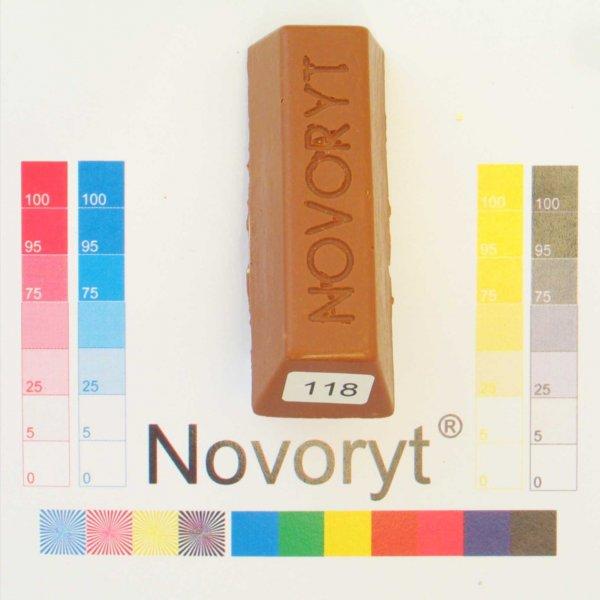 NOVORYT® Weichwachs Farbe 018 Buche dunkel 1 Stange der Serie WW003 Bild1