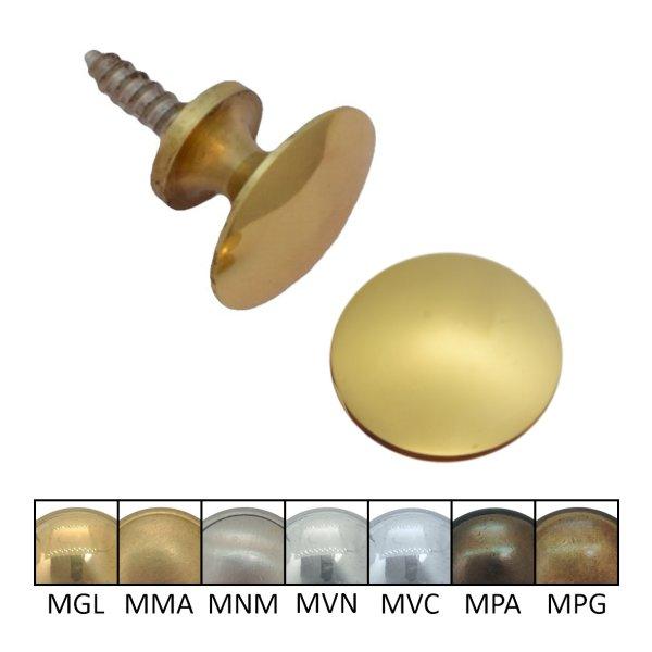 Moderner Möbelknopf aus Messing Serie KN100 Bild1