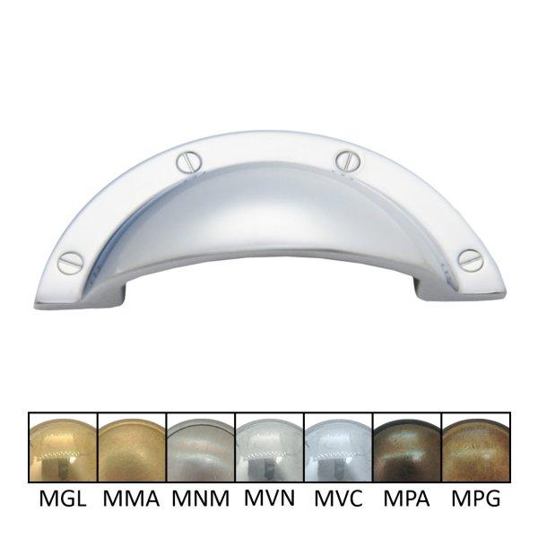Muschelgriff Halbkreis aus Messing B X H: 92 x 45 mm Bild1