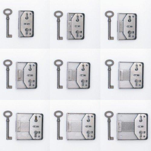 Aufschraubschloss aus Eisen, Dornmaß 20 - 60 mm der Serie AS001 Bild1