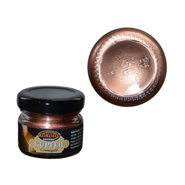 Gold-Creme 25 ml Kupfer in Pastenform mit einer hohen Deckfähigkeit. Bild1