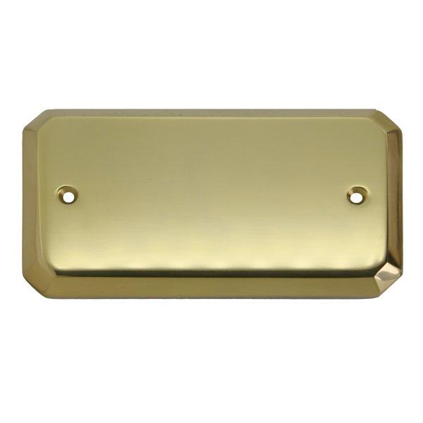 Namensschild Messing glänzend mit Schutzlack 130x70mm Bild1