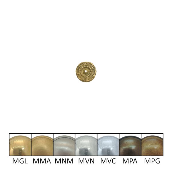 Klassizismus Rosette gegossen Messing MMA D22 mm der Serie kl143 Bild1