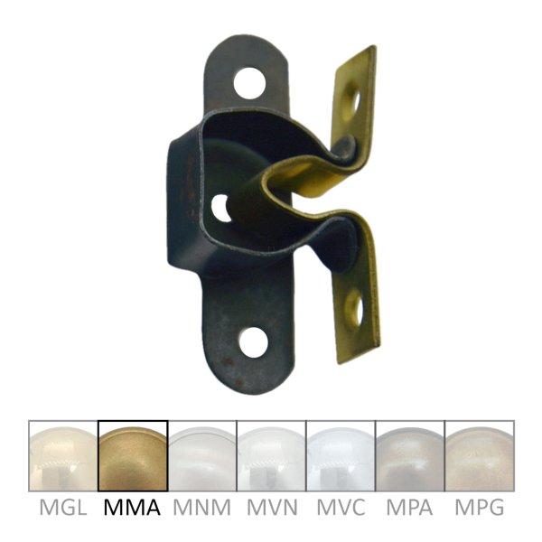 Türschnapper aus Messing mit passendem Gegenstück, Breite 30 mm Bild1