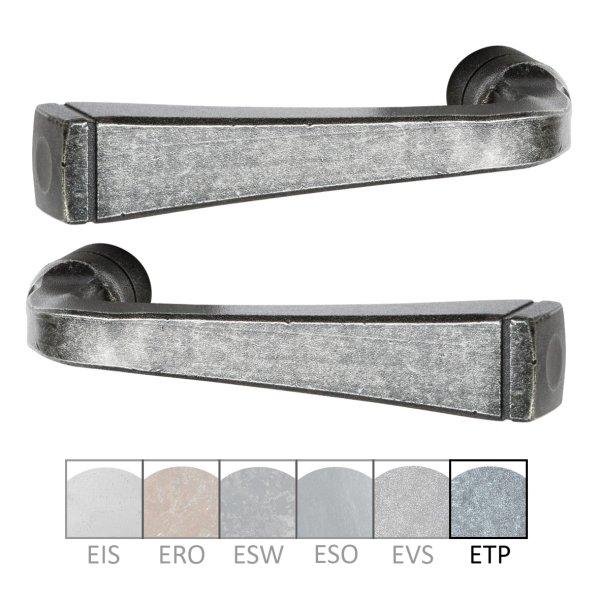 Türdrücker Eisen thermopatiniert ®, 120 mm, Paar der Serie TD055 Bild1