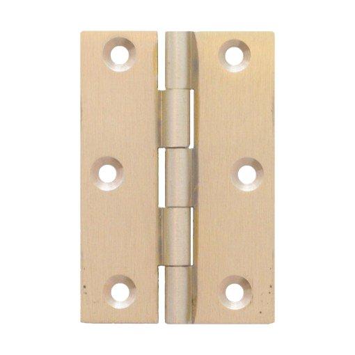 Möbelscharnier Messing massiv a=50 mm, b=30 mm der Serie MB001 Bild1