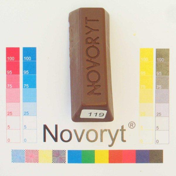 NOVORYT® Weichwachs Farbe 019 Nussbaum hell 1 Stange der Serie WW003 Bild1