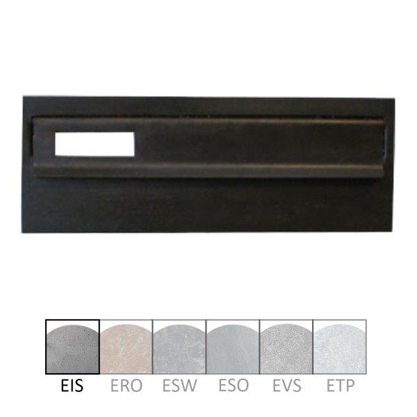Briefklappe Material: Eisen für Wohnungseingangstüre außen Außenmaße: 300 x 110 mm Einwurfmaße: 277 x 40 mm Der Serie BK001 Bild1