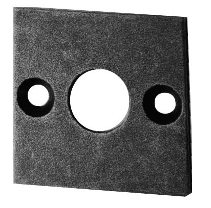 Bauhaus - Stil - Türdrückerrosetterosette, Eisen thermopatiniert ® D 58 mm der Serie TR505 Bild1