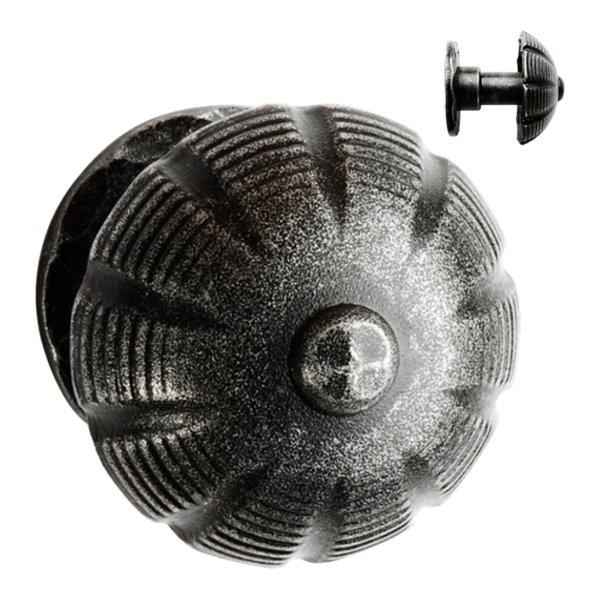 Haustürknauf auf Rosette, Eisen Bild1