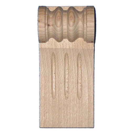Pilasterabschluss, Kapitell AH001 Maße: 70 mm x 155 mm Buche Bild1