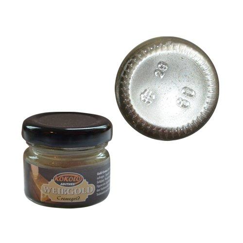 Gold-Creme 25 ml Weißgold in Pastenform mit einer hohen Deckfähigkeit. Bild1