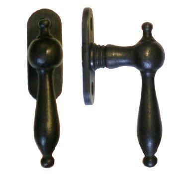 Fenstergriff auf Rosette Nr.: 515 Eisen Grifflänge 95 mm der Serie FG033 Bild1