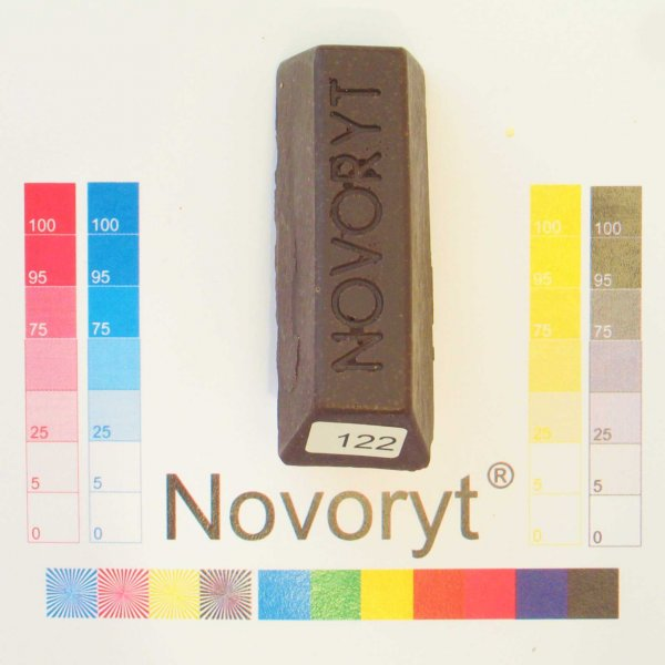 NOVORYT® Weichwachs Farbe 022 Nussbaum dunke 5 Stangen der Serie WW003 Bild1