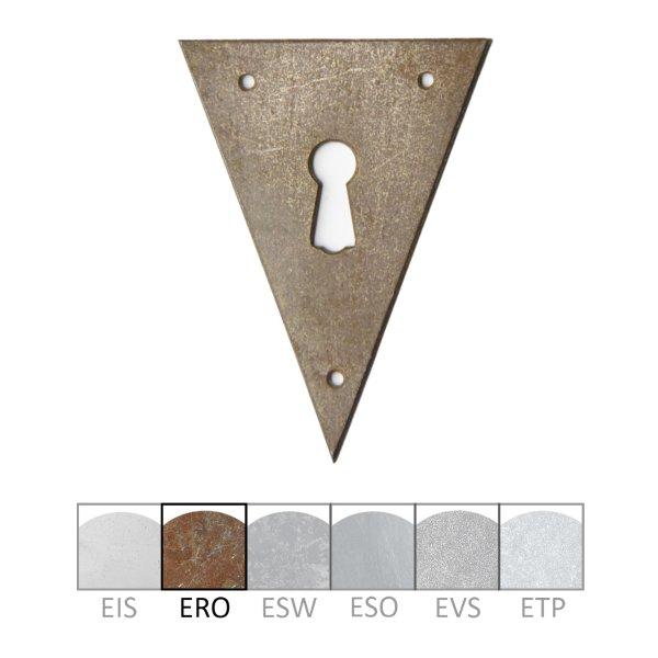 Schlüsselschild in Eisen rostig. 58x78 mm Bild1