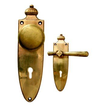 Sicherheitsgarnitur Messing poliert, Dist. 92 mm, PZ, Art.Nr.: 11-7068HS Bild1