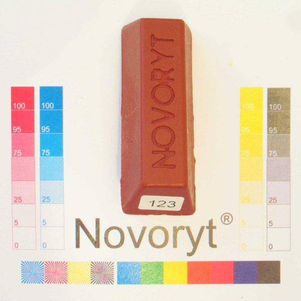 NOVORYT® Weichwachs Farbe 023 macoré 1 Stange der Serie WW003 Bild1