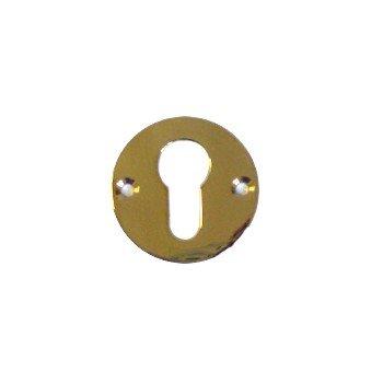 Rosette Profilzylinder-Lochung, Messing Durchmesser: 50 mm Bild1
