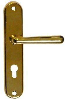 Sicherheitstürschild in Messing (PZ) mit versch. Oberflächen. 244x50 mm Bild1