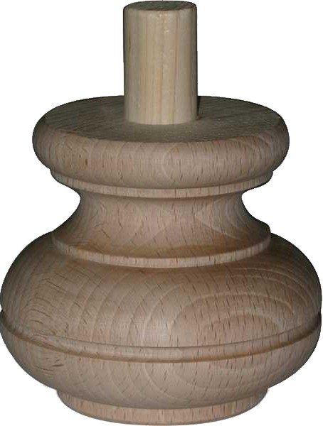 Möbelfuß in unterschiedlichen Holzarten und Maßen der Serie HF028 Bild1