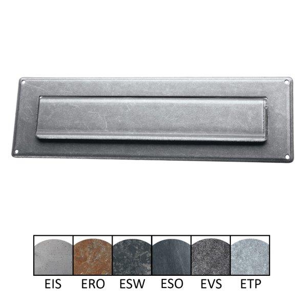 Briefklappe BK016 Eisen  Maße: 285 mm x 85 mm inkl. Zubehör Bild1