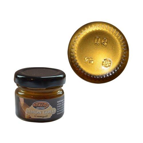 Gold-Creme 25 ml Citrongold in Pastenform mit einer hohen Deckfähigkeit. Bild1