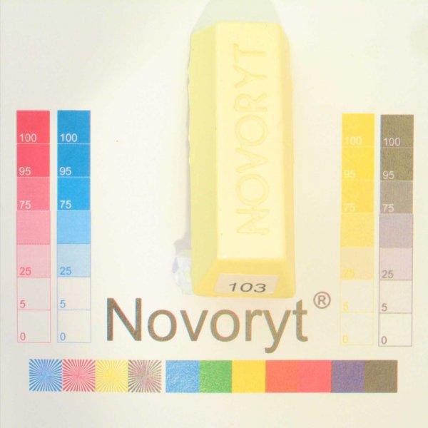 NOVORYT® Schmelzkitt - Farbe 103 pastell gel 5 Stangen der Serie HW003 Bild1