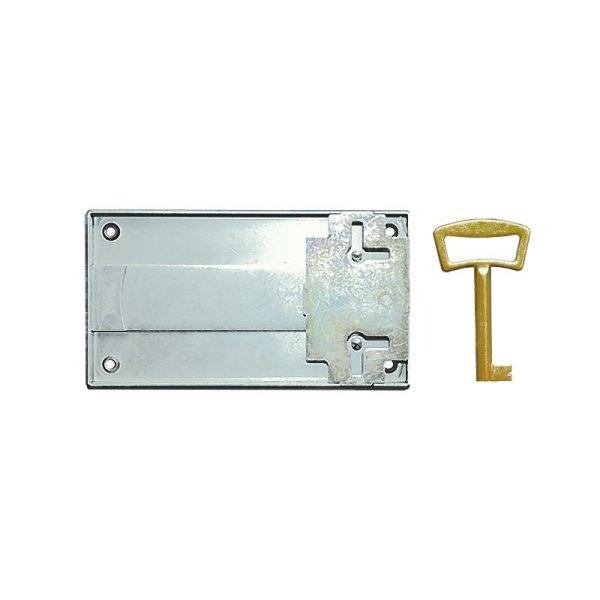 Aufschraubschloss AS005 Eisen bronziert Dornmaß: D100 mm Bild1