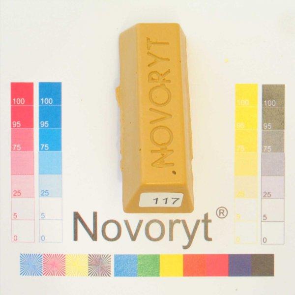 NOVORYT® Schmelzkitt - Farbe 117 Buche mitte 5 Stangen der Serie HW003 Bild1