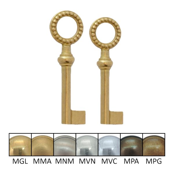 Hohlschlüssel Messing glänzend der Serie HS013 Bild1