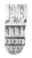 Kapitell AH051 Maße: 55 mm x 140 mm Buche Bild1