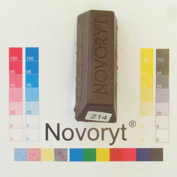 NOVORYT® Schmelzkitt - Farbe 214 schokoladen 1 Stange der Serie HW003 Bild1