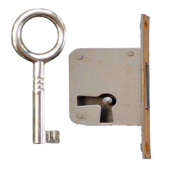 Einsteckschloss mit Messingstulp, Dornmaß 20 mm, links der Serie ES004 Bild1