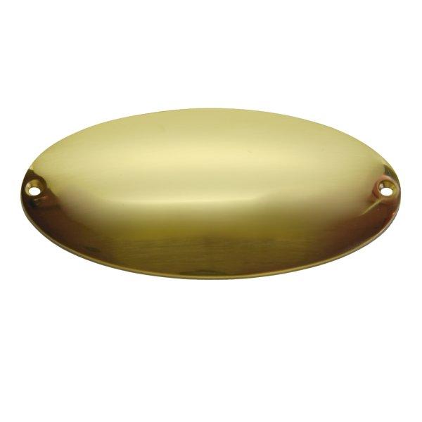 Namensschild Messing glänzend mit Schutzlack 138x74mm Bild1