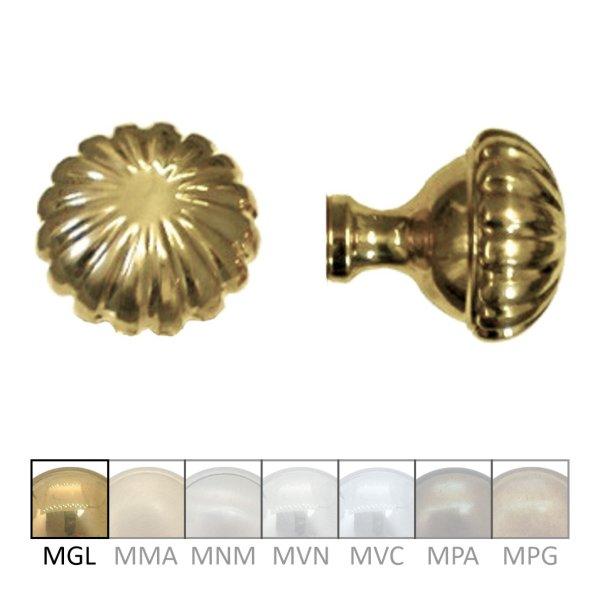 Türknauf TK107 Messing glänzend Knopfdurchmesser: 70 mm inkl. Zubehör Bild1