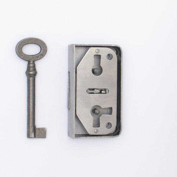 Aufschraubschloss AS001 Eisen roh Dornmaß: D20 mm Bild1