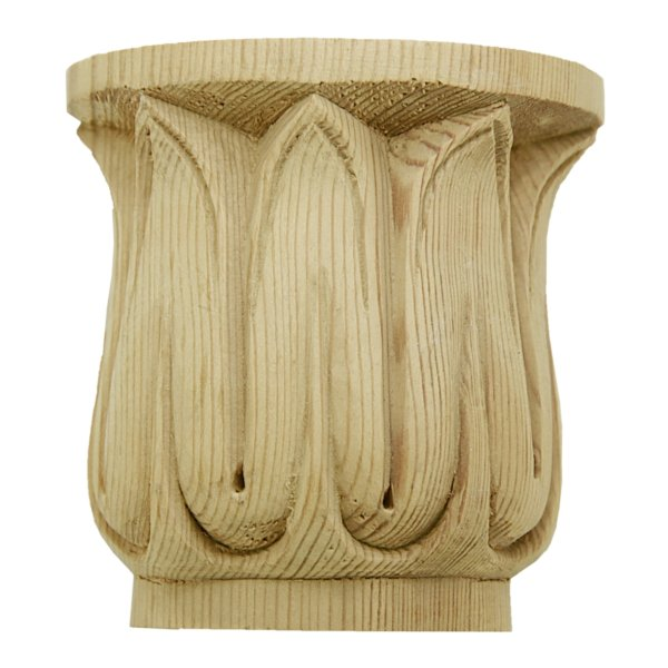 Kapitell in Kiefer. 83x85x30 mm Bild1