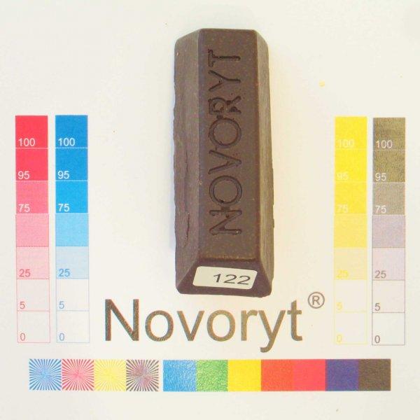 NOVORYT® Weichwachs Farbe 022 Nussbaum dunke 1 Stange der Serie WW003 Bild1