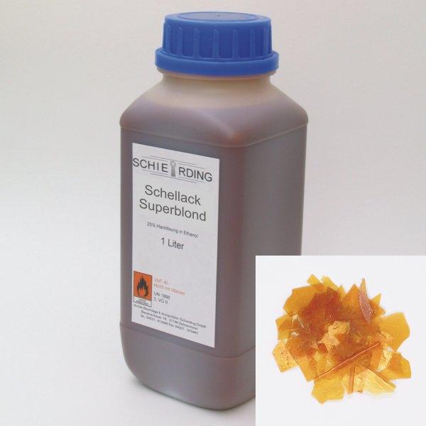 Gelöster Schellack superblond, 1 Liter der Serie LA003 Bild1