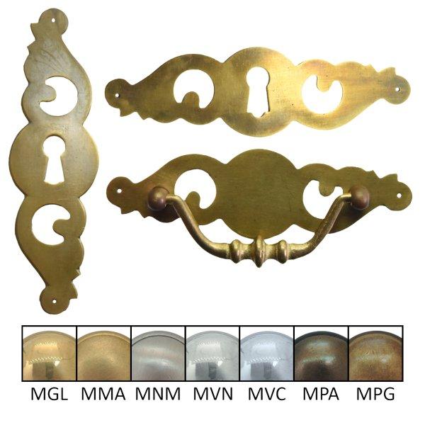 Schlüsselschild Hochkant mit Schlüsselloch, Eisen Bild1