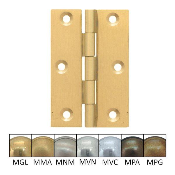 Möbelscharnier Messing massiv der Serie MB001 Bild1