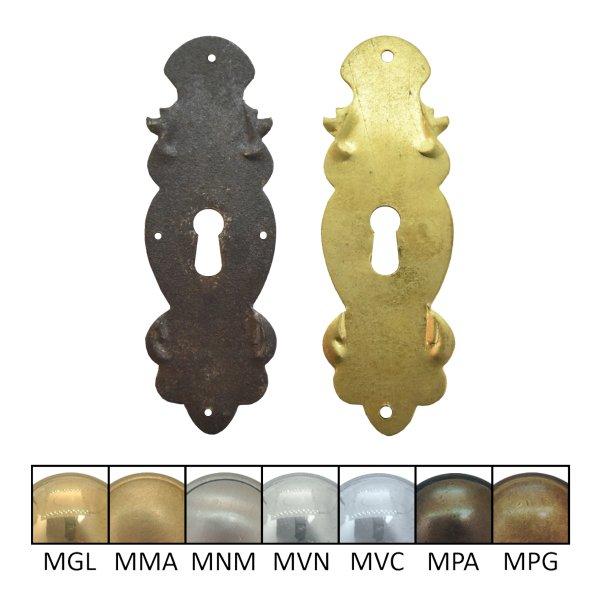 Schlüsselschild 120 x 40 mm Hochkant mit Schlüsselloch, Eisen Bild1