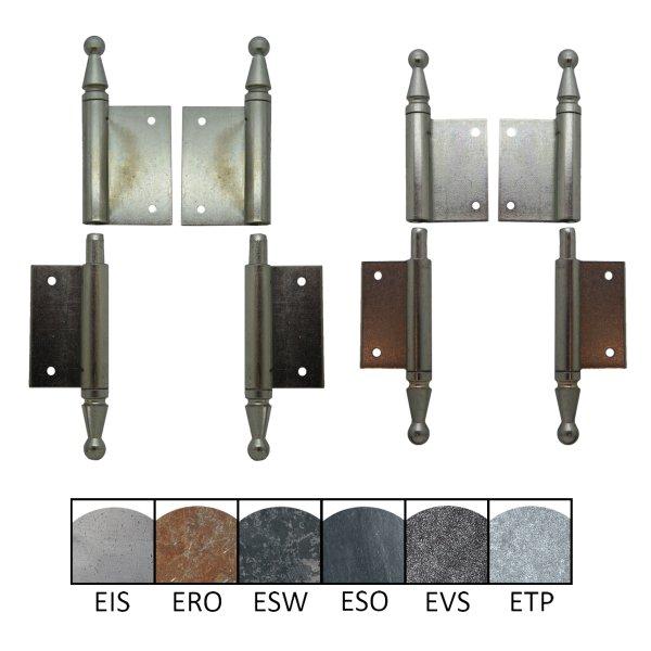 Einstemmband / Fitsche 8 mm Stift fest, 100 mm Höhe, links, mit versetzten Lappen Bild1