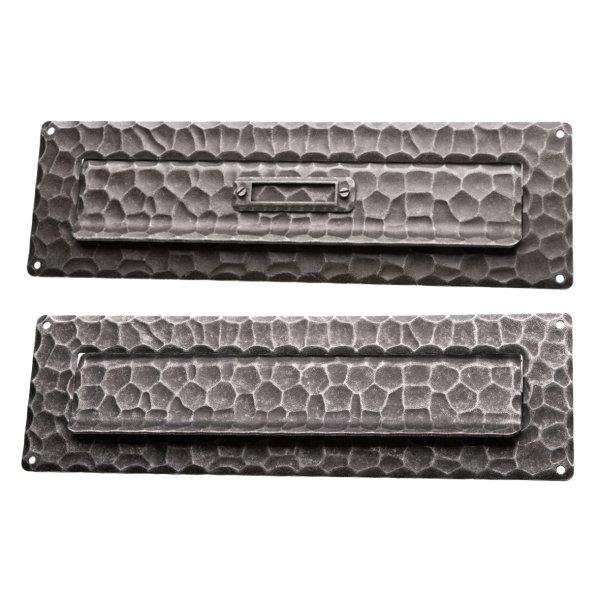 Briefklappe BK015 Eisen thermopatiniert ® oder schwarz verzinkt Maße: 285 mm x 85 mm inkl. Zubehör Bild1