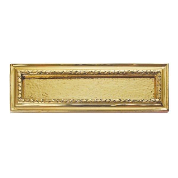 Briefklappe BK017 Messing glänzend Maße: 240 x 105 mm Bild1